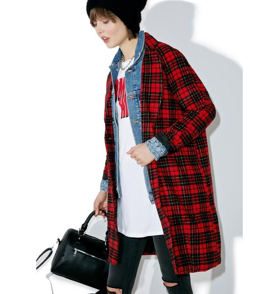 Motel Ernest Plaid Coat