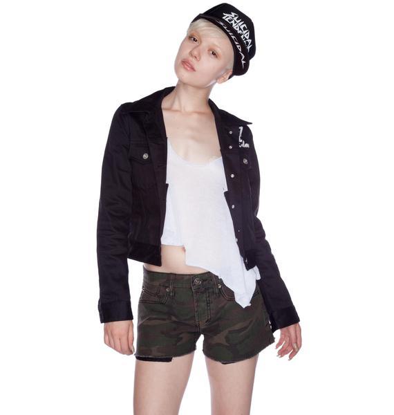 Lip Service Camouflage Dirty Boyfriend Shorts