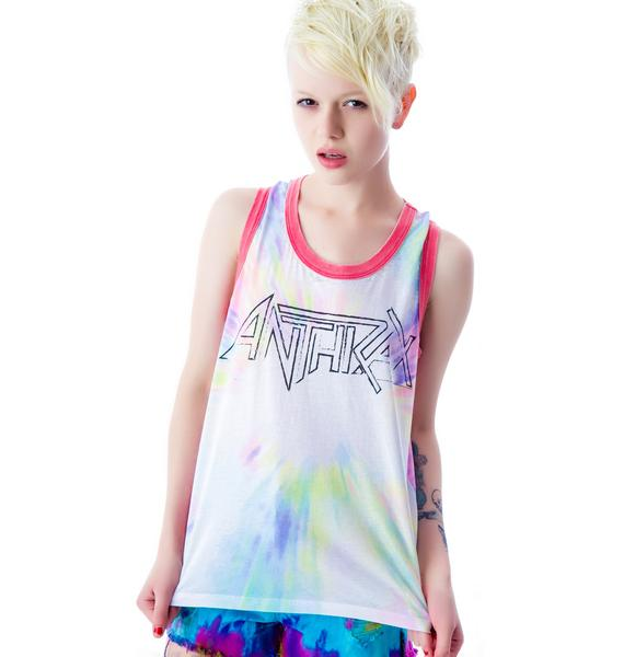 Chaser Anthrax Tie Dye Deep Armhole Tank