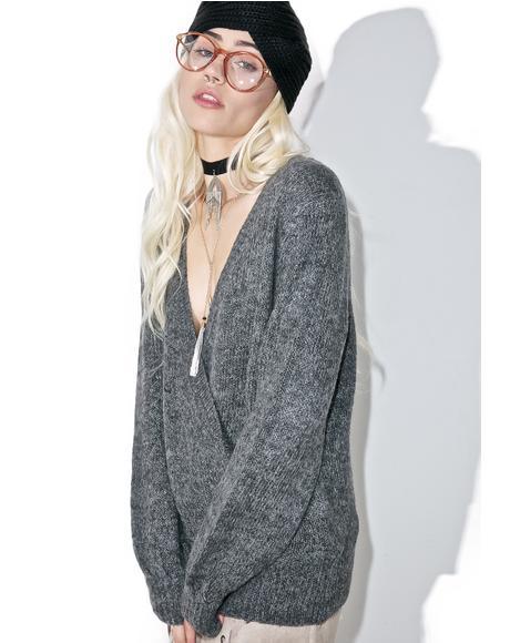 Aria Surplice Sweater