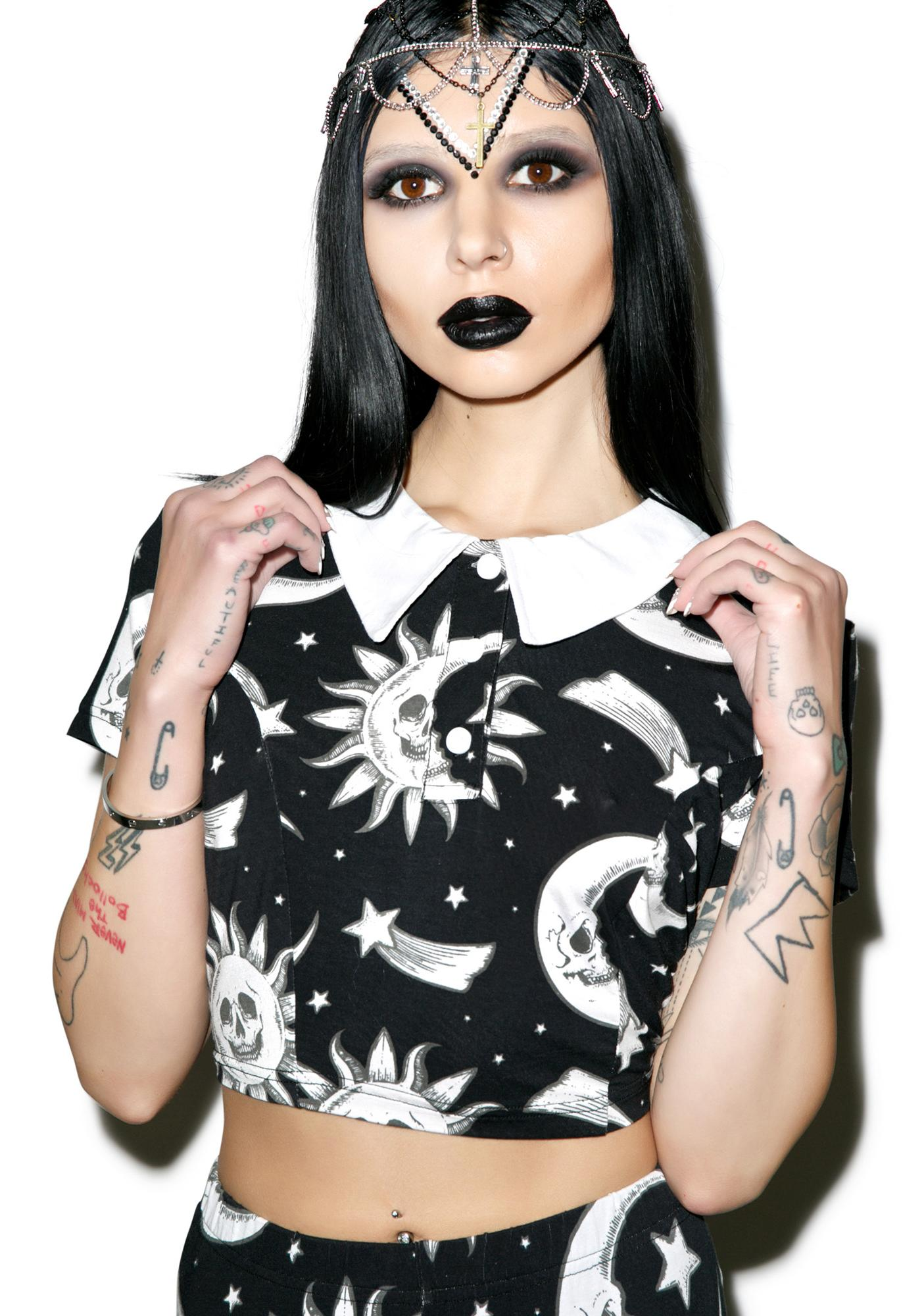 Killstar Cozmic Death Crop Top
