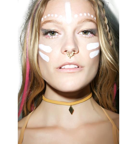 Vanessa Mooney The Golden Diamond Leather Choker