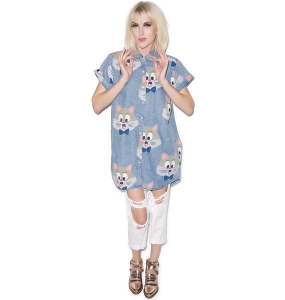 Lazy Oaf Kit Katty Short Sleeve Shirt