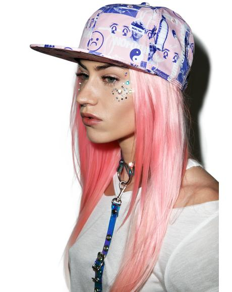 Sad Face Cyber Punk Hat