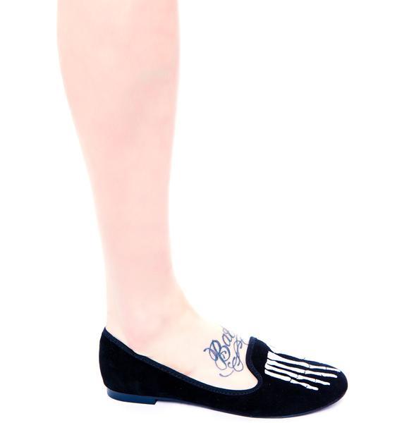 Y.R.U. Skeleton Toe Lavish Flat