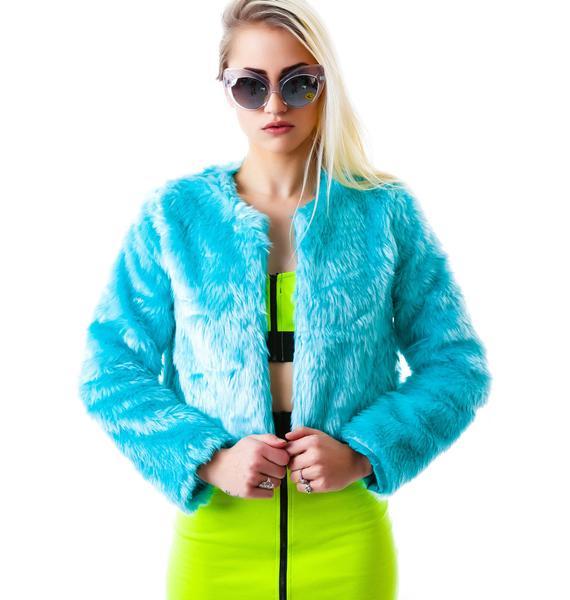 Fur Play Crop Jacket