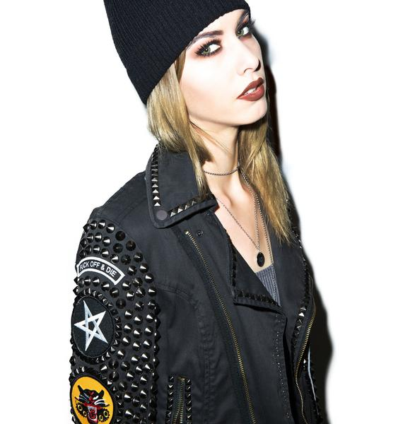Hazmat Design Kvlt Studded Jacket
