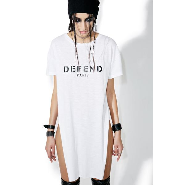 Defend Paris Charlize Split Side Tunic Top