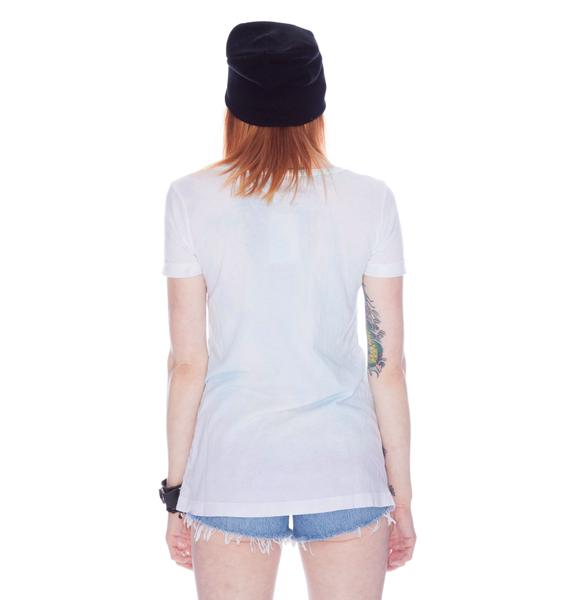 Chaser Top Hat Skull Slouchy Tee