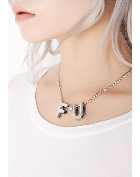 F-U Too Necklace
