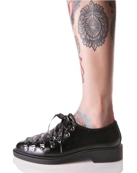 Leather Corset Jam Oxfords
