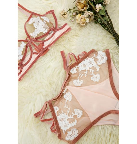 For Love & Lemons Flirty Darla Side Laced Panty