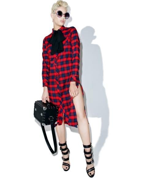 Ralph Plaid Shirt Dress
