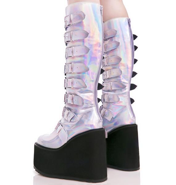 Demonia Hologram Trinity Boots