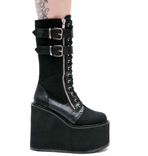 Demonia Wyvern Rider Platform Boots