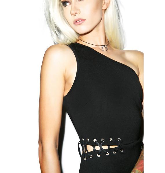 Glamorous Strip Tease Lace Up Dress