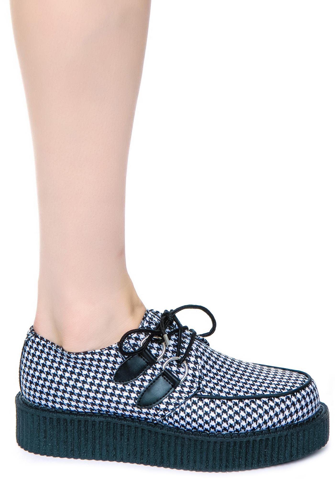 T.U.K. Houndstooth Round Low Creeper