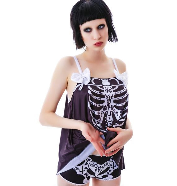 Too Fast Occult Bones Schwing PJ Set