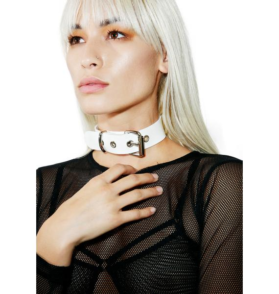 Club Exx Pure Verge Vinyl Buckle Choker