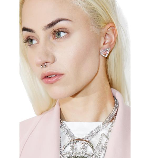 Open Heart Earrings