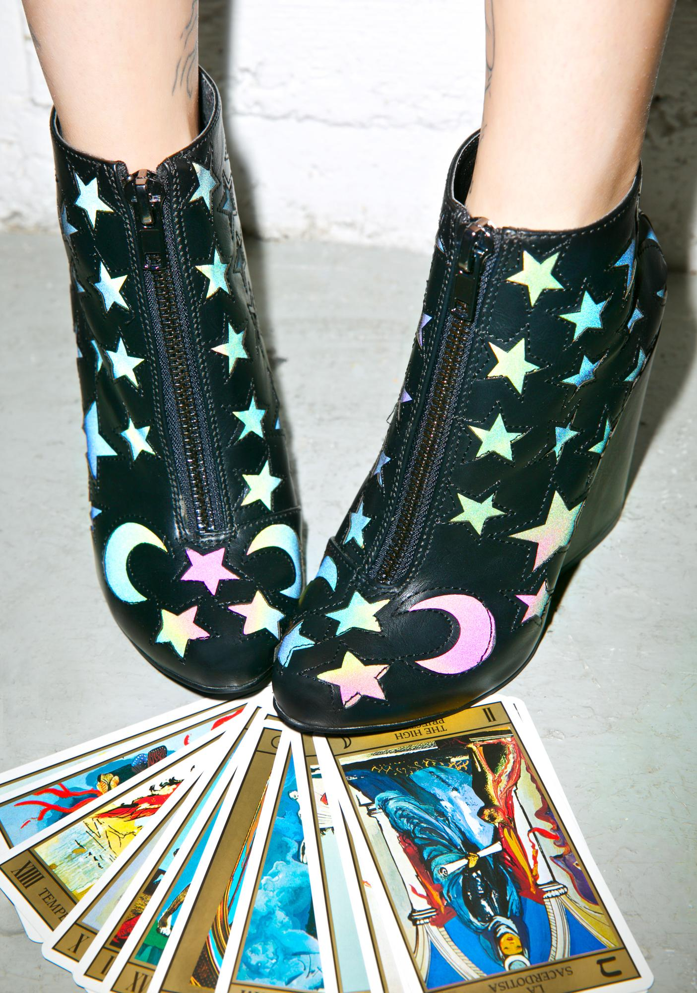 Y.R.U. Craft Moon And Stars Ankle Boot