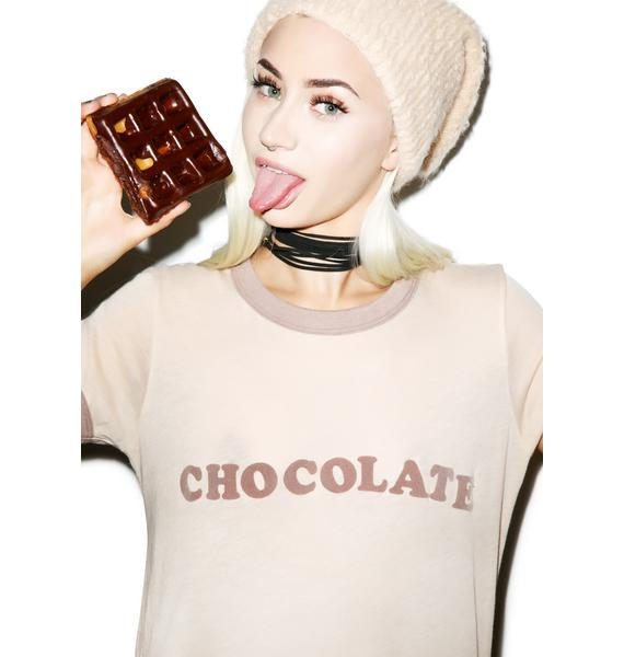 Wildfox Couture Chocolate Vintage Ringer Tee