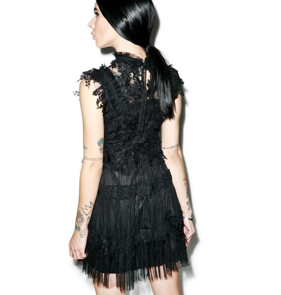 Dolly Bae Angelic Dress Black
