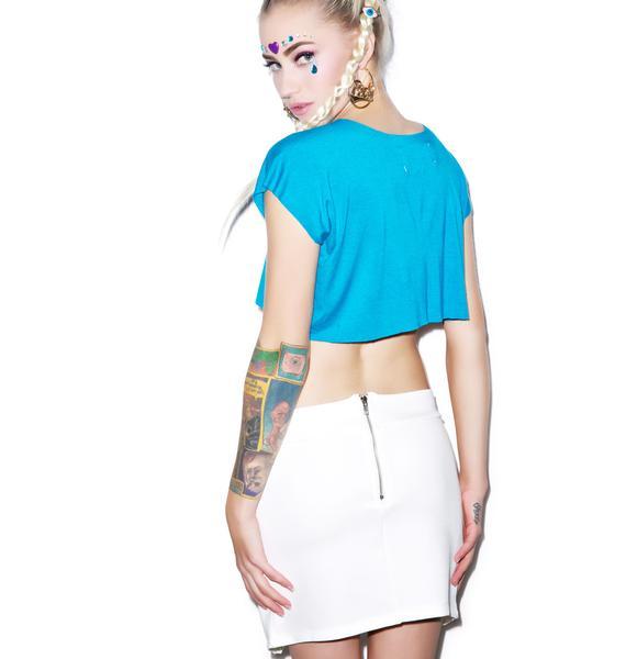 Boosted Neoprene Mini Skirt