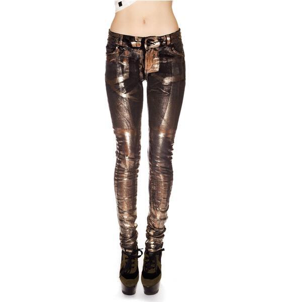 Revolt Knit Black Mirror Skinny Jeans
