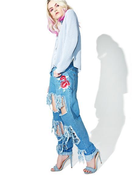 Encore Distressed Denim Jeans