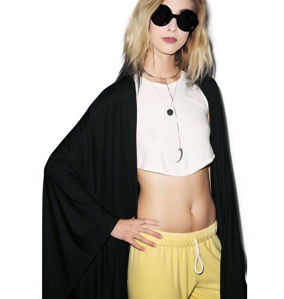 Lauren Moshi Eloise Dripping Happy Face Cardigan