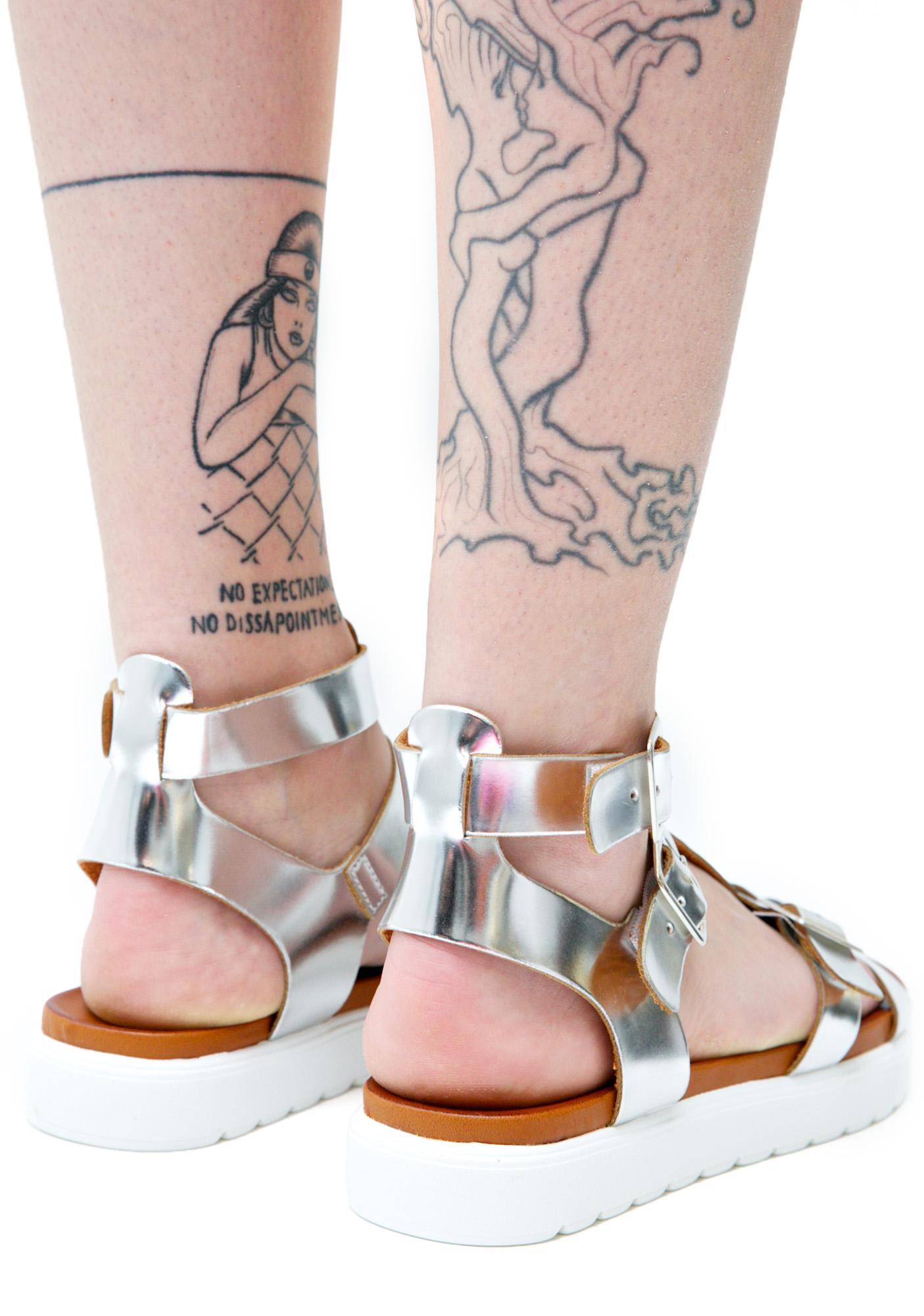 Vagabond Metallic Gladiator Sandals Dolls Kill