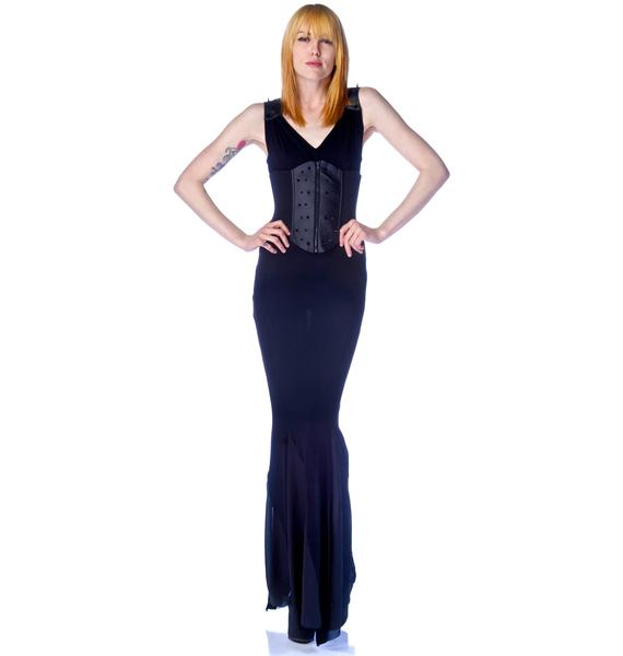 Lip Service Creature of Habit Spiked Waist Cincher Gown