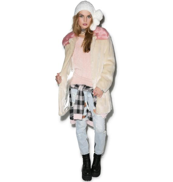 Unreal Fur Candy Blossom Coat
