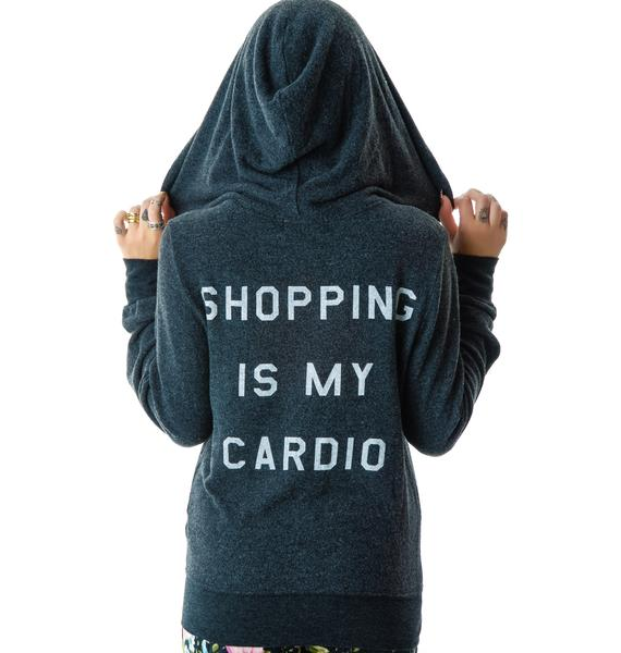 Wildfox Couture Shopping Is My Cardio Track Suit Jacket