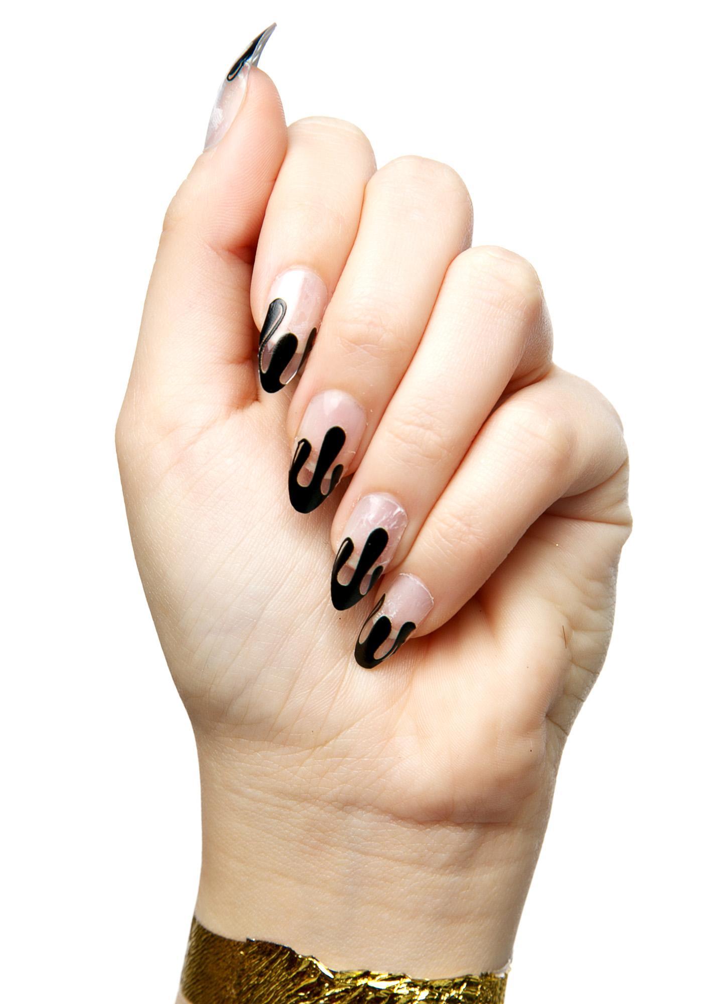 Black Blood Nail Wraps
