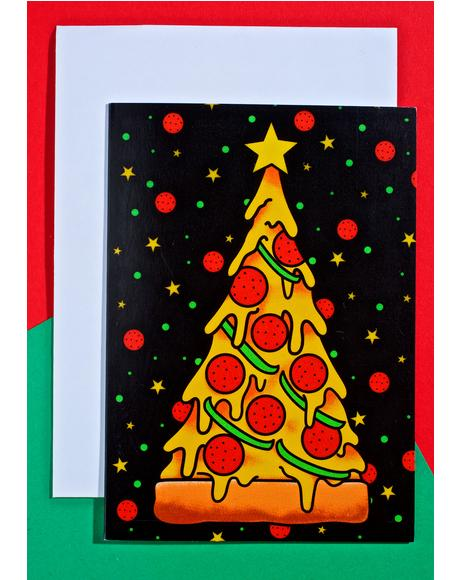 Pizza Tree Card
