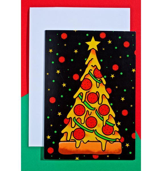 Sourpuss Clothing Pizza Tree Card