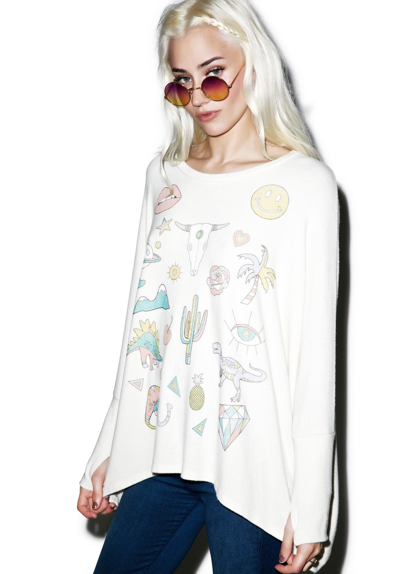 Lauren Moshi Mira Oversized Pullover