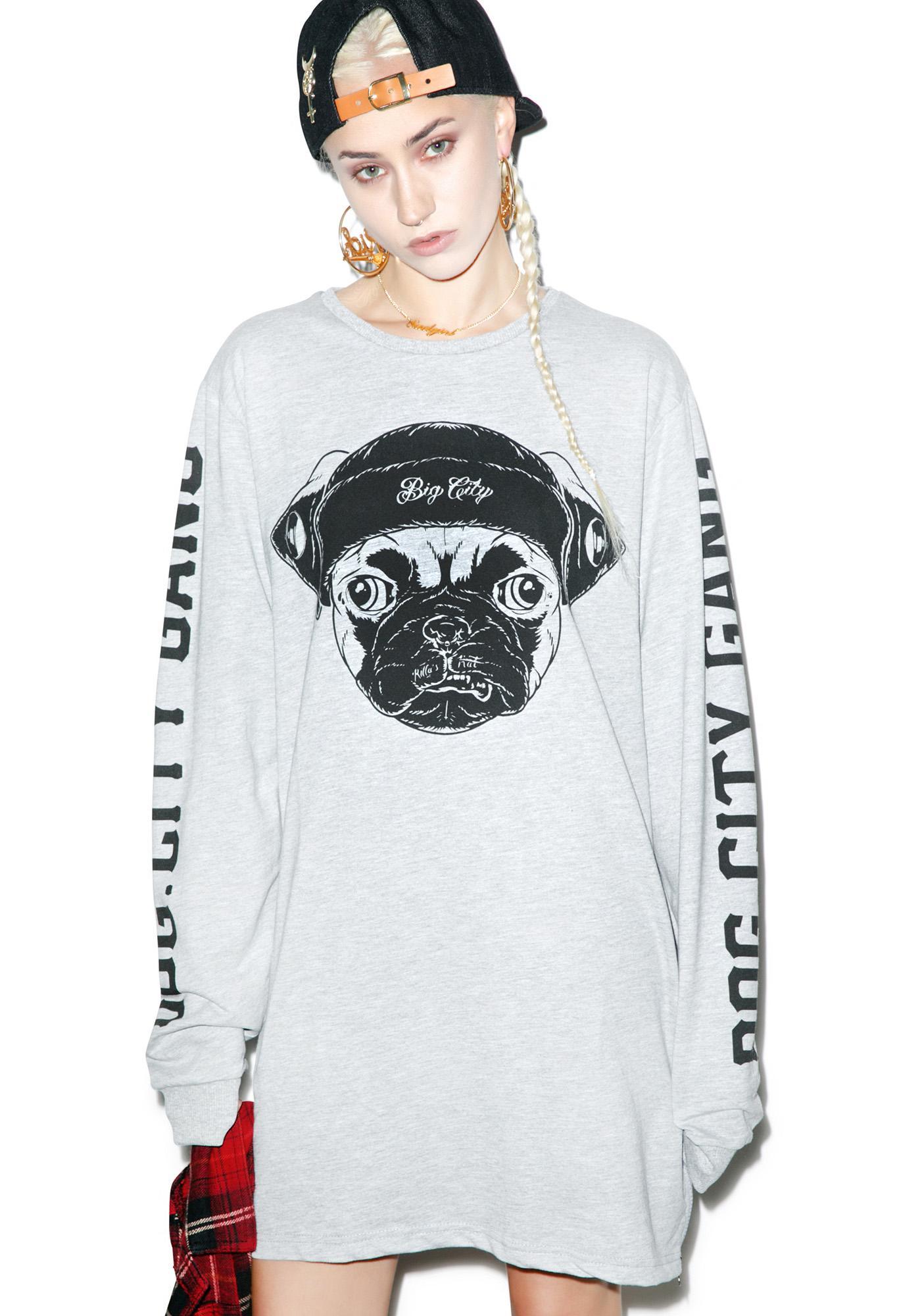 Pug In A Hat Sweatshirt