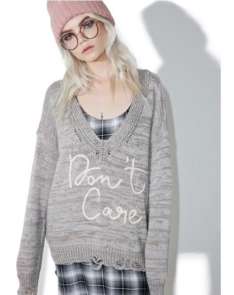 Don't Care Cambridge Sweater