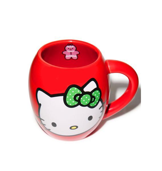 Hello Kitty Holiday Oval Ceramic Mug