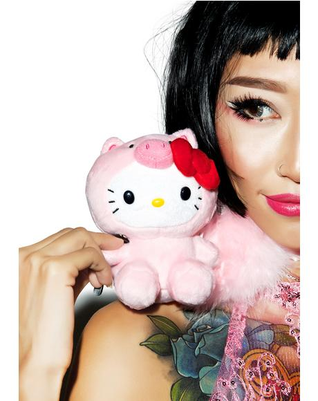 Farm Friends Hello Kitty Pig Plush