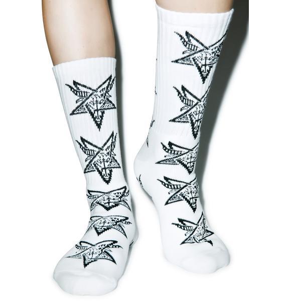HUF X Thrasher Goat Crew Socks