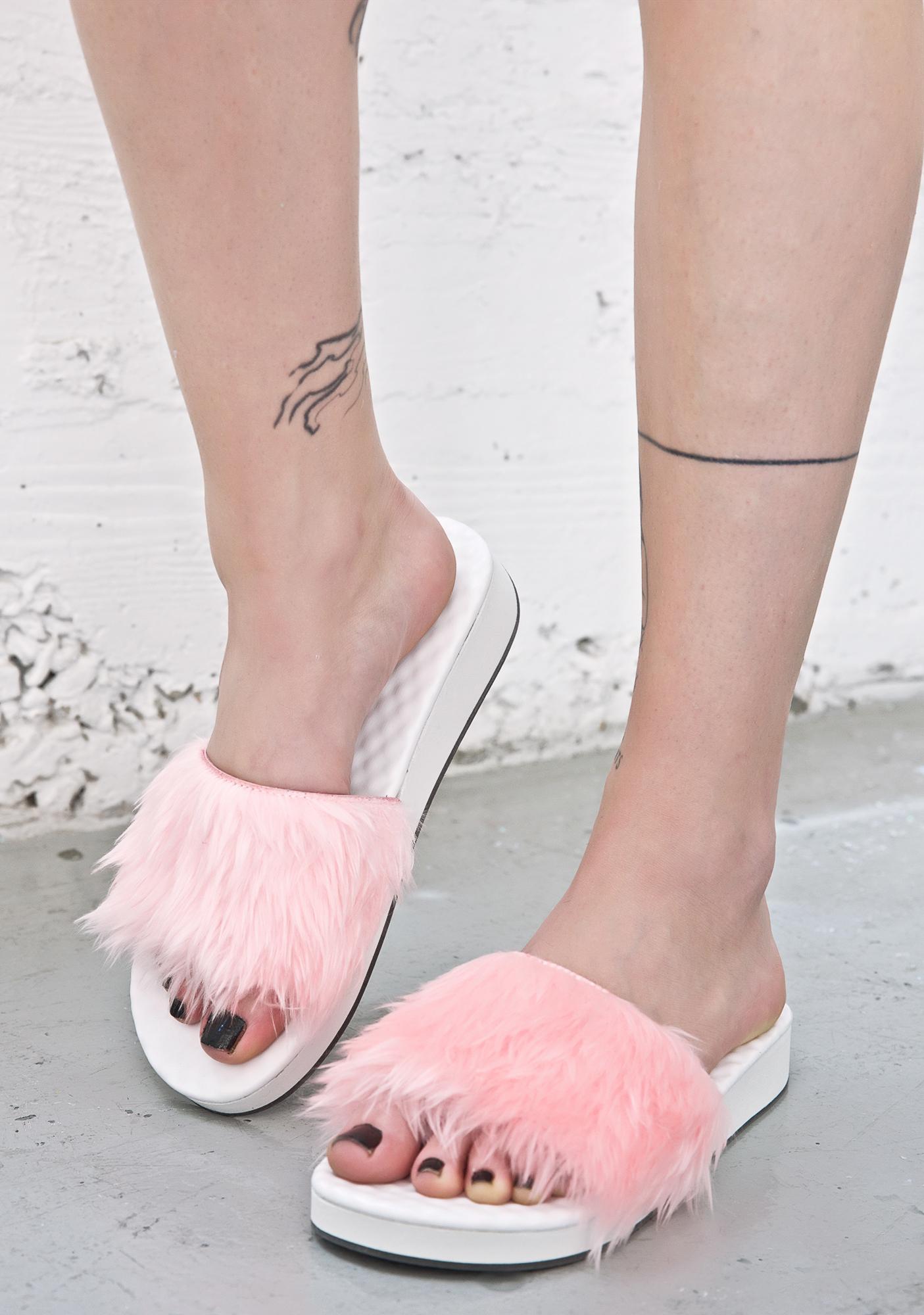 O Mighty BB Pink Furbae Slides