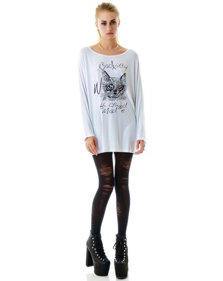 Miss Bad Kitty Batwing Top