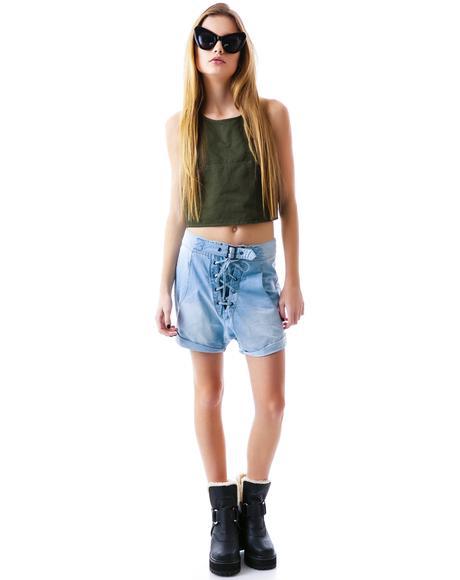 Chambray Superfreak Shorts