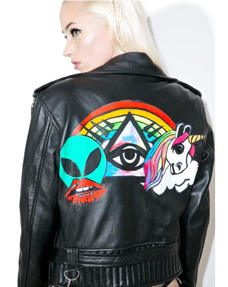 Artsy BB Leather Moto Jacket