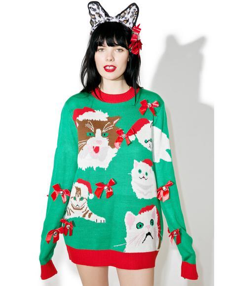 Crazy Cat Sweater