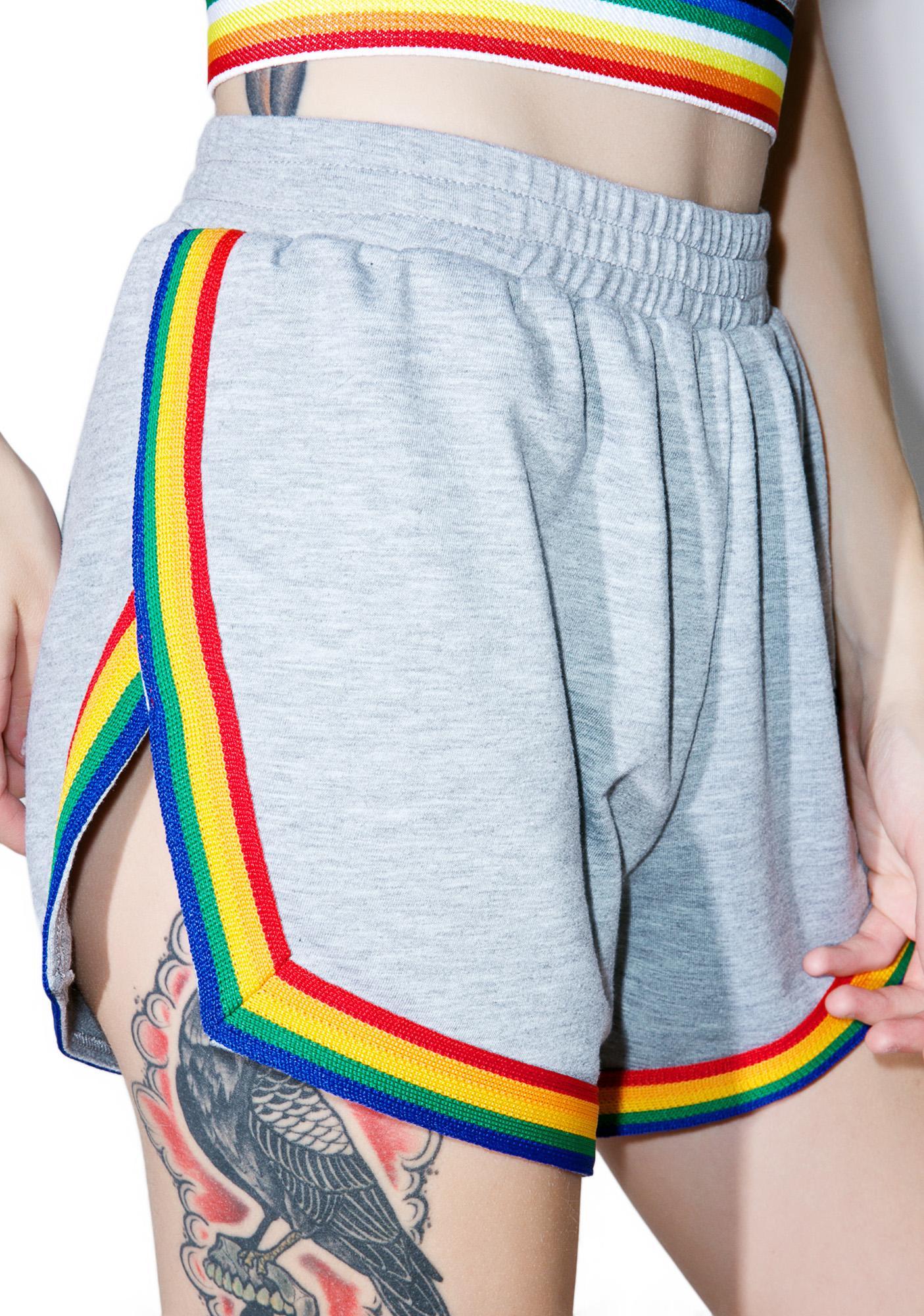 Camp Collection X Dolls Kill Rainbow Shorts